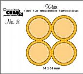Crealies - X-tra no. 8 - Fold Open die 4 Circles Double Stitch - XTRA08